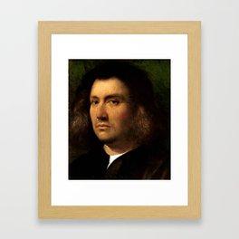 """Giorgione (Giorgio Barbarelli da Castelfranco) """"Portrait of a Man"""" Framed Art Print"""