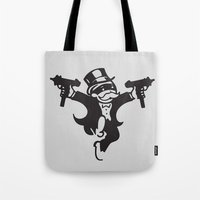 guns Tote Bags featuring Monopoly / Guns by tshirtsz