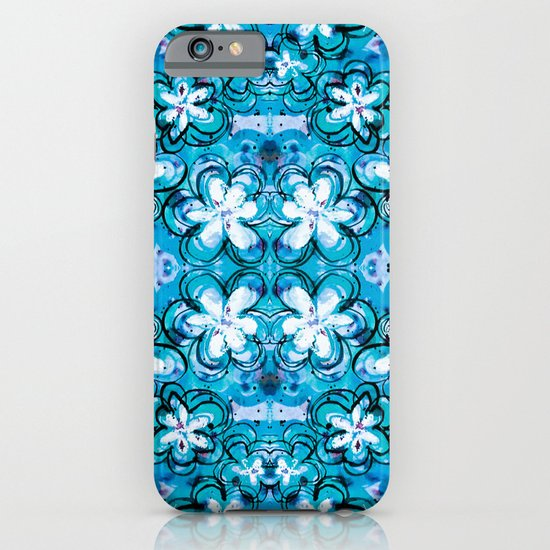 blue flowers iPhone & iPod Case