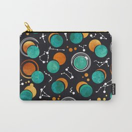 Great Total Solar Eclipse II // turquoise green moons Carry-All Pouch