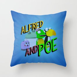 Alfred and Poe! Throw Pillow