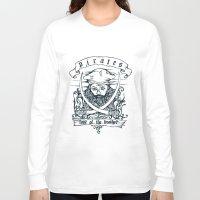 pirates Long Sleeve T-shirts featuring pirates by LUKMANX