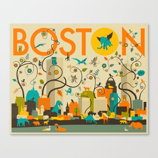 WILD BOSTON Canvas Print