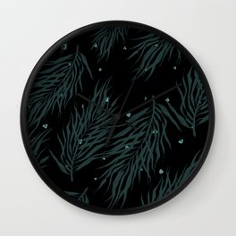 Midnight palm party Wall Clock