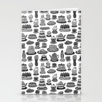 macaroon Stationery Cards featuring Vintage Tea Party Pattern by Stacey Muir