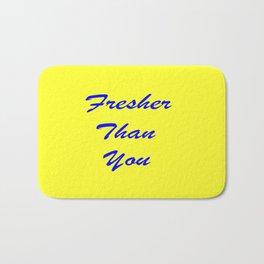 fresher THAN you Yellow & Blue Bath Mat