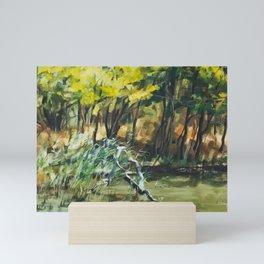 River In Summer Mini Art Print