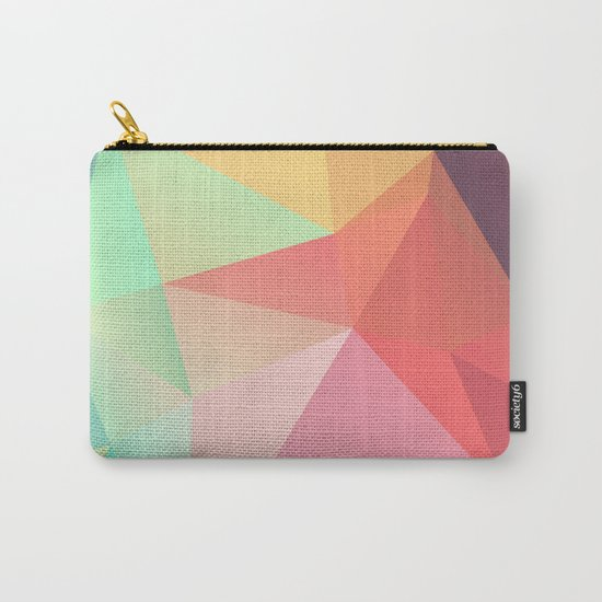geometric V Carry-All Pouch