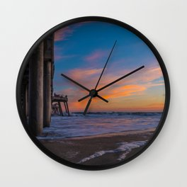 Low Angle North Side Sunset Wall Clock