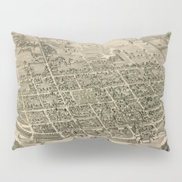 Vintage Pictorial Map of Fredericton New Brunswick (1882) Pillow Sham