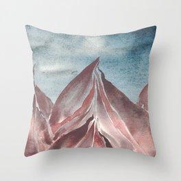 Abstract Mountain Study 1 Throw Pillow