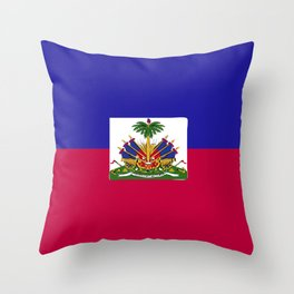 Haiti flag emblem Throw Pillow