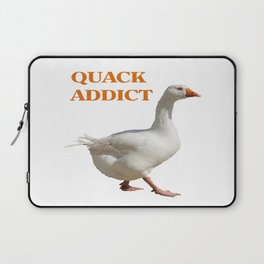 Strolling Duck Quack Addict Laptop Sleeve