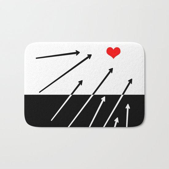 heart. Bath Mat