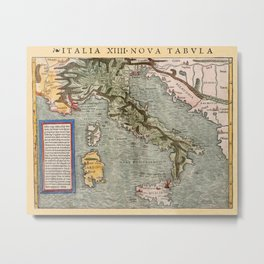 Map Of Italy 1540 Metal Print