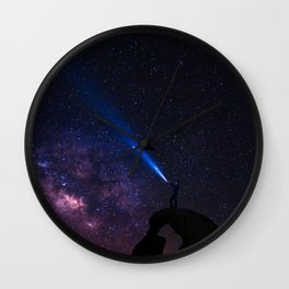 Standing in the eyes of the world Wall Clock