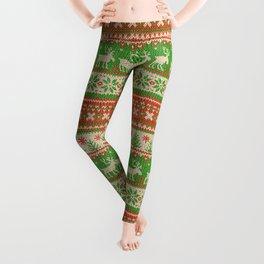 Ugly Christmas Sweater Digital Knit Pattern Leggings