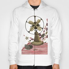 Still life with vintage fan and autumn leaves Hoody