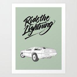 Delorean – Ride The Lightning Art Print