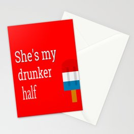 4th Of July, She's My Drunker Half, BFF Gift Stationery Cards