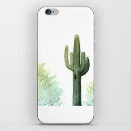 Saguaro and Bushes iPhone Skin