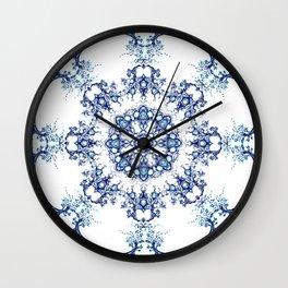 blue garden mandala Wall Clock