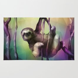 Sloth (Low Poly Multi) Rug