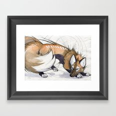 Cross Kitsune Framed Art Print