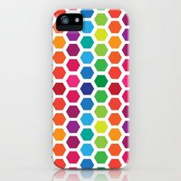 Rainbow Hexies Pattern Design iPhone Case