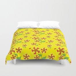 Doxie Flower - Dachshund Dog - Weiner Dog - Weenie Dog Duvet Cover
