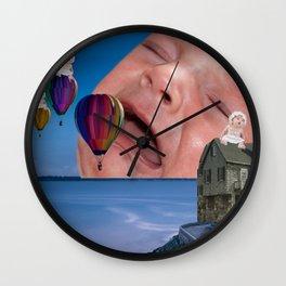 Babies and Balloons Wall Clock