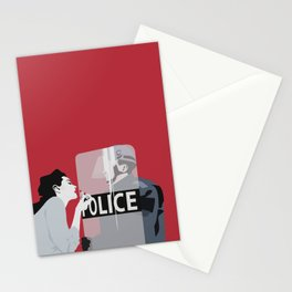 Red woman n3 Stationery Cards
