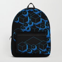 3D Futuristic Cubes Backpack