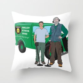 Russell & Hugh Jewellery Retrieval Service - DMDC - Detectorists Throw Pillow