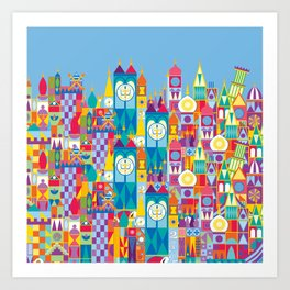 It's A Small World - Theme Park Inspired Art Print