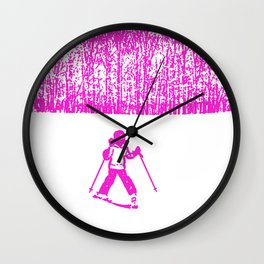 Little Skier II Wall Clock