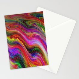 Smeared Rainbow Stationery Cards