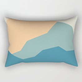 Mountains print.  landscape prints. Original illustration. Printed on archival paper with archival i Rectangular Pillow