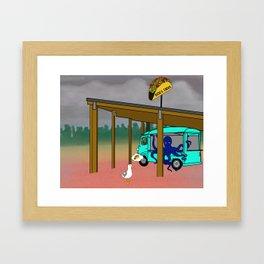 Octo is feeling Blue from Flock of Gerrys Gerry Loves Tacos by Seasons Kaz Sparks Framed Art Print