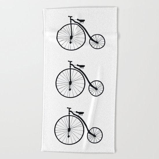 Vintage Bicycle  Beach Towel