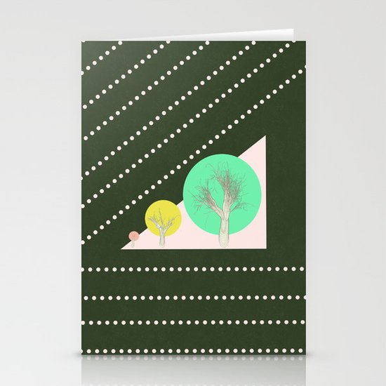 In my world forests are geometric Stationery Cards