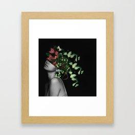 Lady Flowers X Framed Art Print