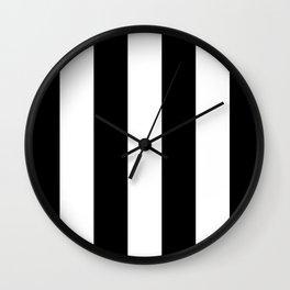 Vertical Black Stripes Wall Clock