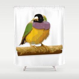 Colorful little birds. Shower Curtain