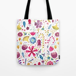 Autumn Hedgerow Flowers Tote Bag