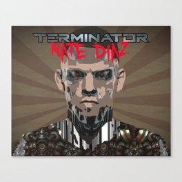 Nate Diaz: The Terminator Canvas Print