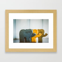 Three Elephants Framed Art Print