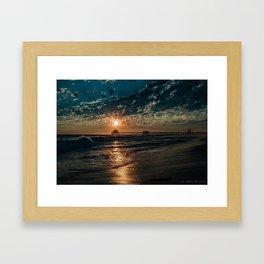 September Blue (Surf City HB) Framed Art Print