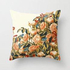 Vintage Garden 22 (Summer Peaches) Throw Pillow