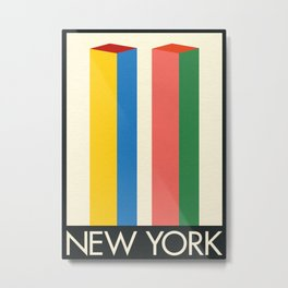 New York Twin Tower Metal Print